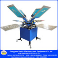 Modèle de plancher doubel carrousel. 4-4 manuel. soie, Écran type de sol imprimerie avec alum table et une base forte