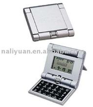 8 digit foldable Calendar Calculator with bracket on the back