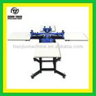 Manual 4 color screen printing machine for t-shirts