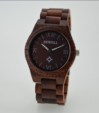 Hot selling Unisex handmade wooden watch with big face for HIS-AND-HER, charming and fashion wrist watch for men and women
