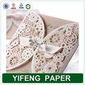 lusso wholesale decorazione a mano di auguri carta di invito a nozze