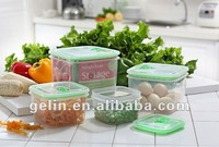 4pcs square plastic airtight food container best seller
