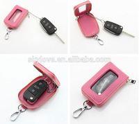 Leather Remote Control Car Key Case Holder