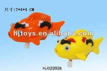 Plastic wind up fish,swimming toy