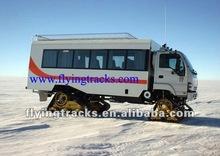 Rubber track systems for breakdown van