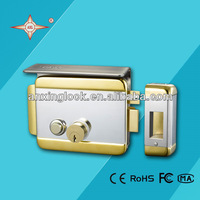 Outdoor push button locks AX048 double latch door lock with 5 brass keys