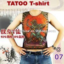 2014 hot sale men and women cheap short sleeve tattoo t-shirt