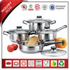 8Pcs Hot Sale SS Induction Metal Cookware Pot
