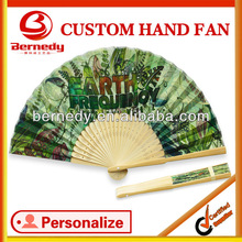 useful and convenient doodle style bamboo hand fan as gift