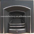 cast iron wood burning fireplace