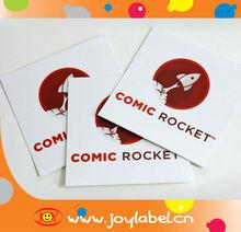 custom square stickers comic rocket
