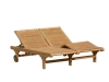 Teak Garden and Outdoor Furniture: Teak Double Lounger