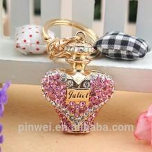 Fashion promotional perfume bottle crystal custom keychain SK2272