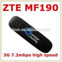 unlock zte mf190 3g usb modem zte f180 mf190 usb wifi dongle 7.2M