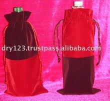 Twin color velvet bottle pouch