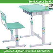 ergonomic adjustable kids furniture plastic desk and chair for children