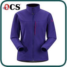 2015 nuova giacca disegni esterno pile giacca softshell foderato