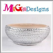 OEM Decor Art Gift Ceramic Crystal Pets Dog Bowls