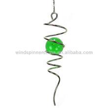 wind spinner--spiral w/gazing ball