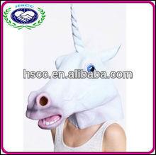 Wholesale Cheep Full Face Creepy Halloween Latex Unicorn Mask