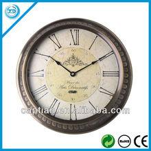 14inch Metal antique wall clock home decor