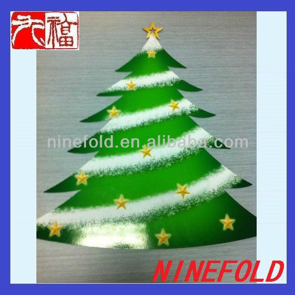 Laser Cutting Golden Metal Christmas Tree