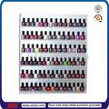 Tsd-a1241 tienda al por menor de encargo de esmalte de uñas de la pared estante/esmalte de uñas de acrílico pantalla/de montaje en pared de plexiglás nailpolish soporte de exhibición