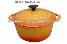 high quality enamel cast iron casserole cookware
