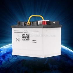 lead acid dry charged car battery 12v 60ah/56073