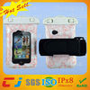 2014 China factory waterproof cell phone neck hanging bag for iphone with armband