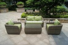 beautiful rattan wicker garden sofa set/ outdoor sofa furniture / garden sofa set