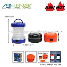 Pop Up Lantern Plastic Telescopic LED Camping Lantern