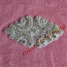 2013 new arrival wholesale crystal applique bridal accessory for wedding dress rhinestone design patterns RA316