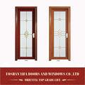 nuevo diseño de aluminio de alta calidad de arte de vidrio interior de la sala de la puerta
