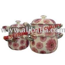 Enamel Non-Stick Cookware Pot (Emaye Tencere Mutfak)