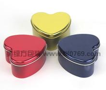 Heart shaped candle/craft tin box