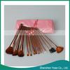 15pcs Professional Makeup Cosmetic Brush Set With Pink Bag