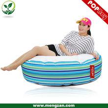 Loveseat comfy bean bag cushion , deluxe stripe bean bag cushion
