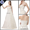 Beautiful Lace wedding dress from Guangzhou factory sell on alibaba with Beads belt lowest factory price F395