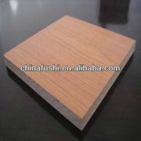 Melamine MDF Board /Standard Size Laminated MDF Board