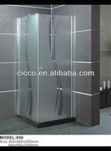 Square Tempered Glass Shower Corner