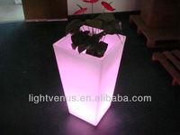BSCI certified manufacturer smart controlled multi color changing LED flower pot/LED plant flower vase