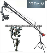 PROAIM 14ft Camera Crane with Jib Stand and Sr. Pan-Tilt Head and 12V Power Pack (P-14-JS-SRPP)