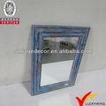 rústico chique de madeira decorativa espelho para o quarto