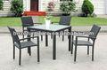 Rota juego de comedor cuadrada/mimbre rústico muebles utilizados en el restaurante