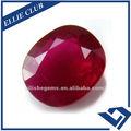 corindo vermelho loose gemas de rubi oval cr001