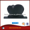 shanxi black granite memorials russian heart tombstone