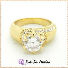 Fashion Zircon in 18K yellow Gold plating wedding Ring