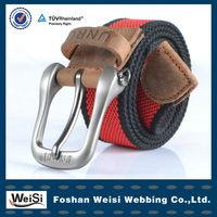 2013 Newest Design Embossed Alloy Buckle Custom Web Belt