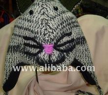 100% woolen animal design hat